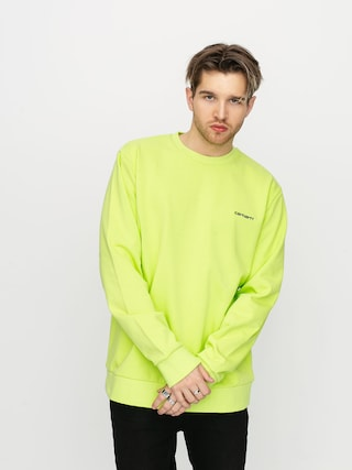 Mikina Carhartt WIP Script Embroidery (lime/black)