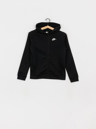 Mikina s kapucu00ed Nike Club JR ZHD (black/black/white)