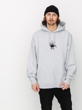 Mikina s kapucu00ed Stussy Old Crown HD (ash heather)