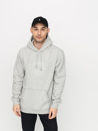 Mikina s kapucí Quiksilver Rio Emboss HD (light grey heather)