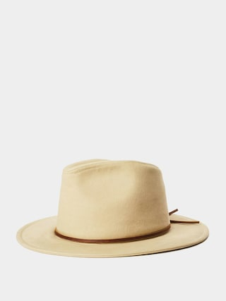 Klobouk Brixton Wesley Cotton Fedora (light khaki)
