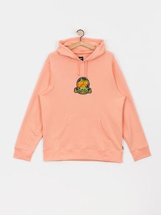 Mikina s kapucí HUF Tenderloin Rose Crest HD (coral pink)