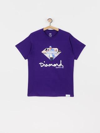 Tričko Diamond Supply Co. Cam Ron Sign (purple)