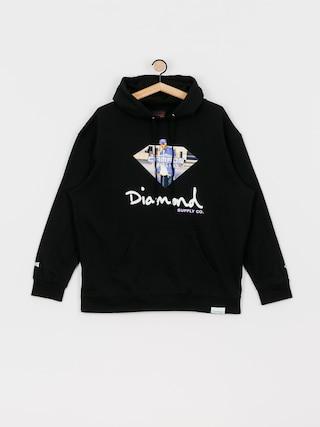Mikina s kapucí Diamond Supply Co. Cam Ron Sign HD (black)