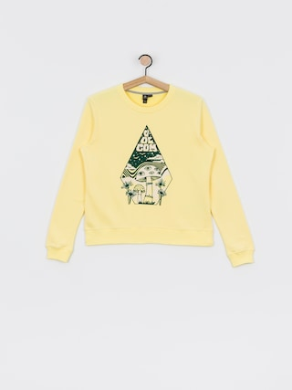 Mikina s kapucu00ed Volcom Sound Check HD Wmn (faded yellow)