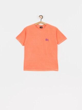 Tričko Stussy Basic Pig Dyed Wmn (neon orange)