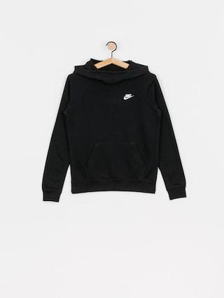 Mikina s kapucu00ed Nike Sportswear Essential HD Wmn (black/white)