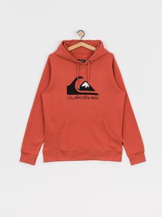 Mikina s kapucí Quiksilver Comp Logo Screen HD (redwood)