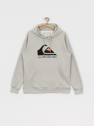 Mikina s kapucí Quiksilver Comp Logo Screen HD (athletic heather)