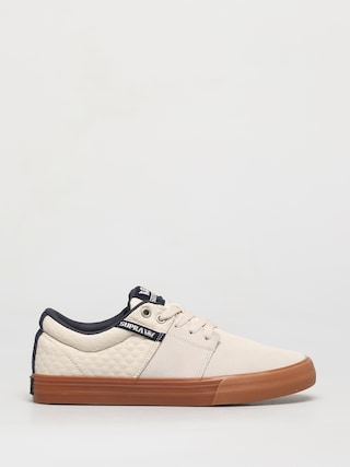 Boty Supra Stacks Vulc II (bone/navy gum)