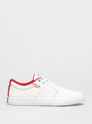 Boty Supra Stacks Vulc II (white/red white)