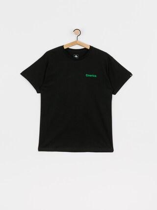 Tričko Emerica Pure Triangle (black/green)