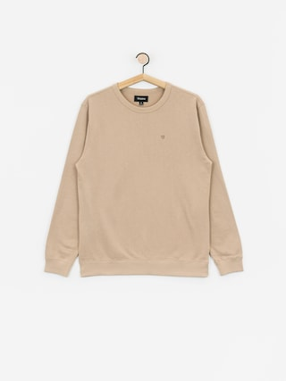 Mikina Brixton B Shield Ft Crew (light khaki)