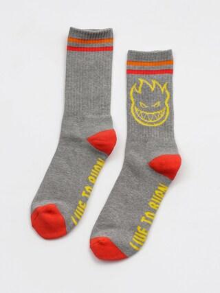 Ponožky Spitfire Bh Calf (heather grey/yellow/red)