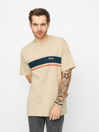 Tričko Brixton Gate Stripe Knit (safari)
