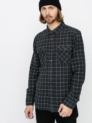 Kou0161ile Brixton Bowery Flannel Ls (washed black/blue)