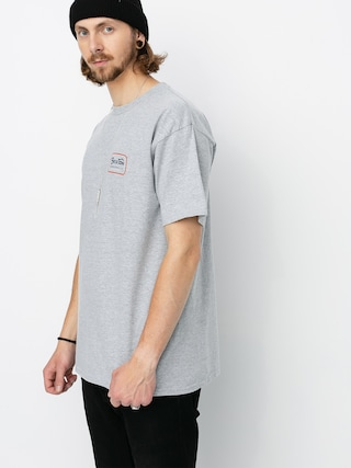 Tričko Brixton Grade Stnd (heather grey/orange)