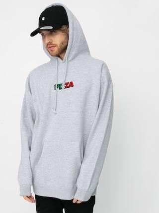 Mikina s kapucí Pizza Skateboards Tri Logo HD (grey)