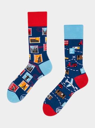 Ponožky Many Mornings The Traveler (navy/red/blue)