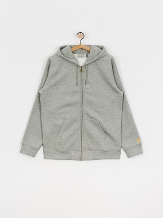 Mikina s kapucu00ed Carhartt WIP Chase ZHD (grey heather/gold)