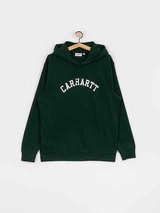 Mikina s kapucí Carhartt WIP University HD (bottle green/white)