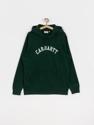 Mikina s kapucu00ed Carhartt WIP University HD (bottle green/white)
