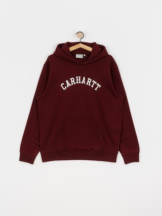 Mikina s kapucu00ed Carhartt WIP University HD (bordeaux/white)