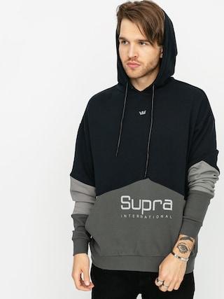 Mikina s kapucí Supra 93 Fleece HD (black grey)