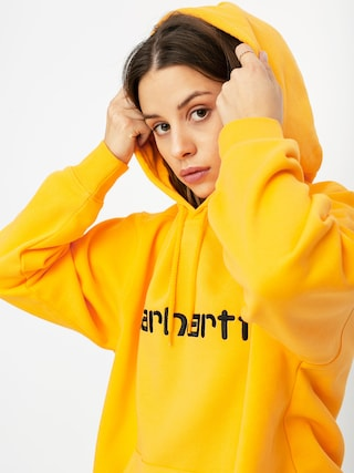 Mikina s kapucu00ed Carhartt WIP Carhartt HD Wmn (pop orange/black)