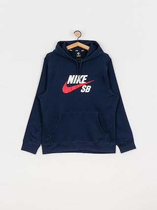 Mikina s kapucí Nike SB Sb Icon HD (midnight navy/university red)