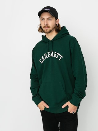 Mikina s kapucu00ed Carhartt WIP University HD (bottle green/white)