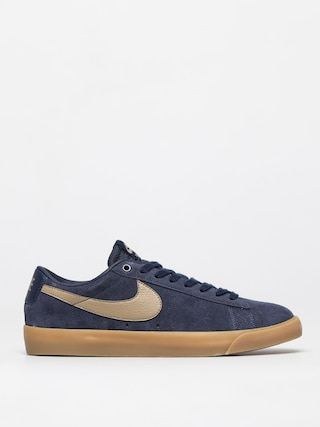 Boty Nike SB Blazer Low Gt (midnight navy/khaki gum light brown)