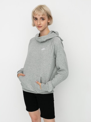 Mikina s kapucí Nike Sportswear Essential HD Wmn (grey heather/white)