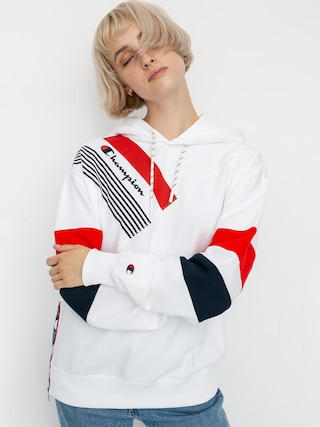 Mikina s kapucí Champion Sweatshirt HD 112758 Wmn (wht)