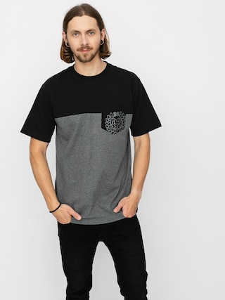 Tričko MassDnm Pocket Base (dk heather grey)