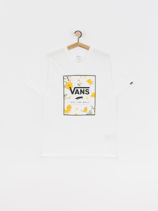Tričko Vans Print Box (white/super bloom)