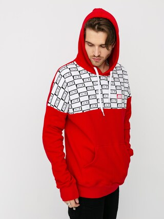 Mikina s kapucí Koka Checkmate HD (red)