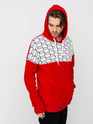 Mikina s kapucu00ed Koka Checkmate HD (red)