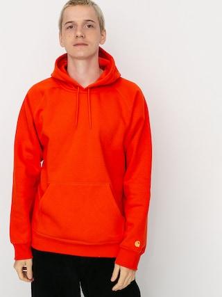 Mikina s kapucí Carhartt WIP Chase HD (safety orange/gold)