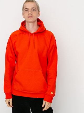 Mikina s kapucu00ed Carhartt WIP Chase HD (safety orange/gold)