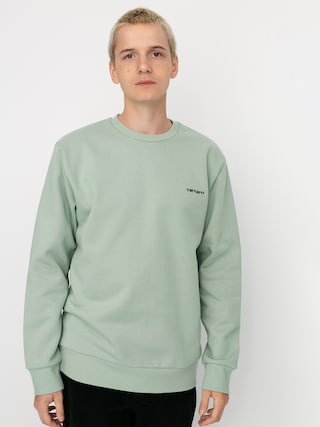 Mikina Carhartt WIP Script Embroidery (frosted green/black)