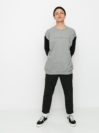 Mikina Brixton Cantor Crew (heather grey/black)