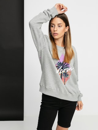 Mikina s kapucu00ed Volcom Sound Check HD Wmn (heather grey)