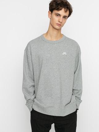 Mikina Nike SB Sb Crew (dk grey heather/white)