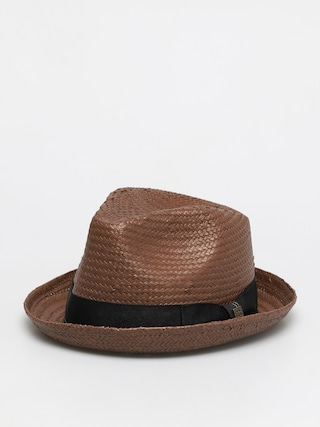 Klobouk Brixton Castor Fedora (brown/black/gold)