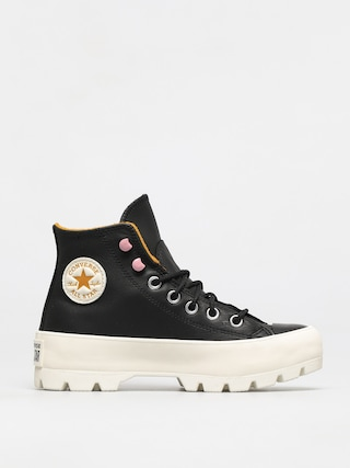 Boty Converse Chuck Taylor All Star Lugged Winter Leather Wmn (black/saffron yellow/egret)
