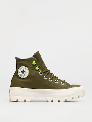 Boty Converse Chuck Taylor All Star Lugged Winter Leather Wmn (dark moss/navy/egret)