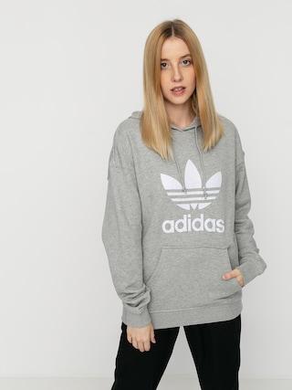 Mikina s kapucí adidas Originals Trf HD Wmn (mgreyh/white)