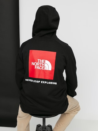 Mikina s kapucí The North Face Raglan Red Box HD (black)