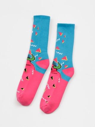 Ponožky Toy Machine 80s Monster Crew (blue/pink)